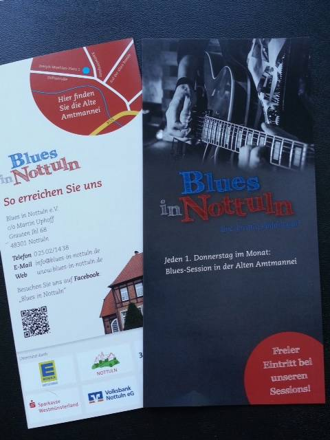 "Flyer ""Blues in Nottuln e.V."""